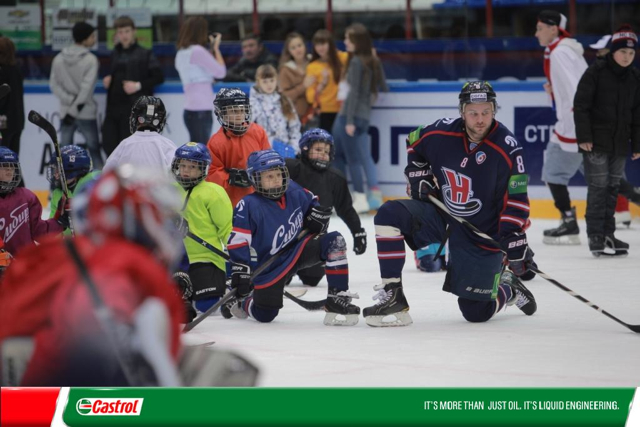 KHL: Novosibirsk's Aspiring Young Athletes Enjoy Sibir And Castrol Magnatec Master Class