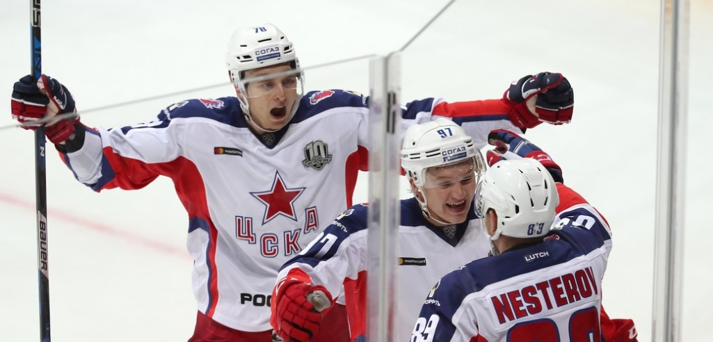 KHL: Kaprizov Celebrates Landmark In Big CSKA Victory. October 18, 2017 Round-up