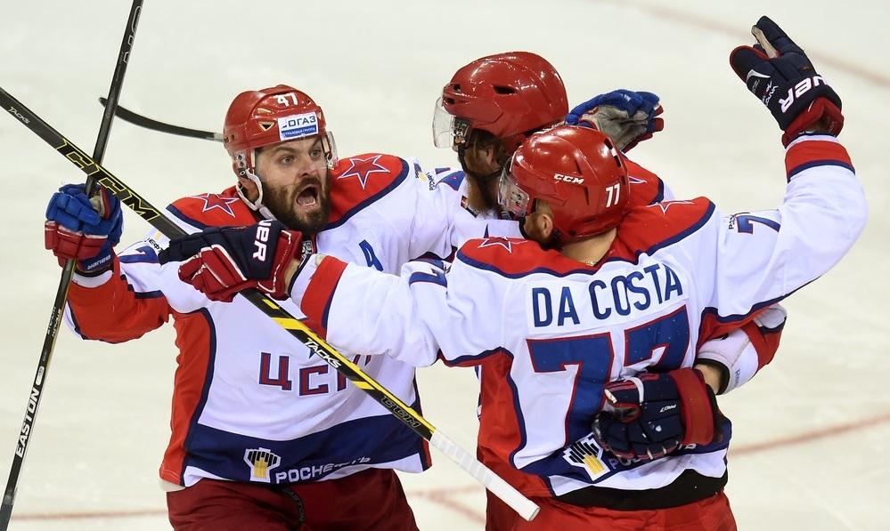 KHL: Da Costa Double Gives CSKA The Overtime Win