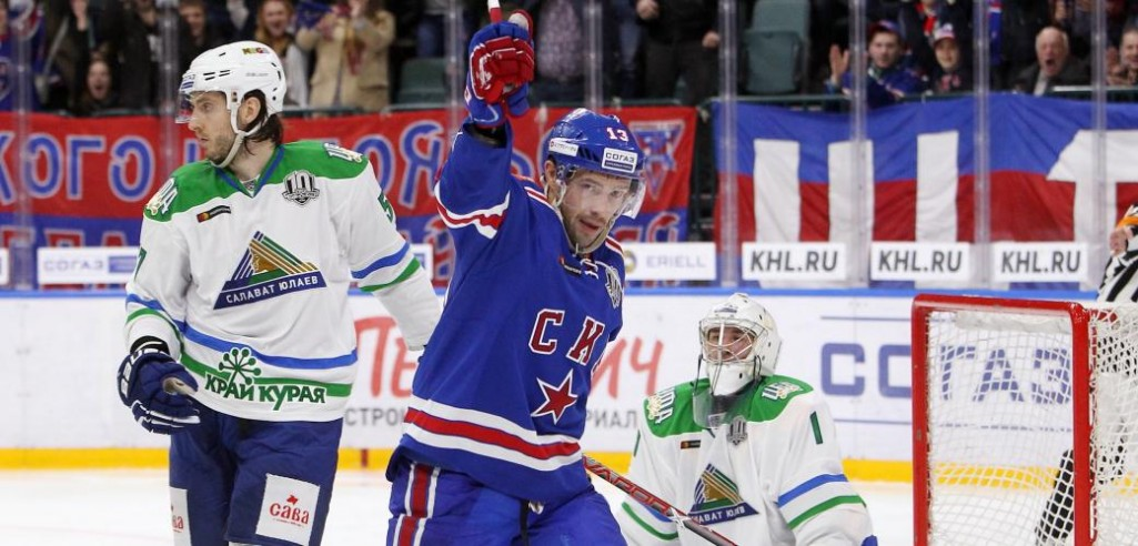 KHL: Datsyuk Dazzles Again. Top Ten Goals, Saves And Hits Of Week 8 (video)
