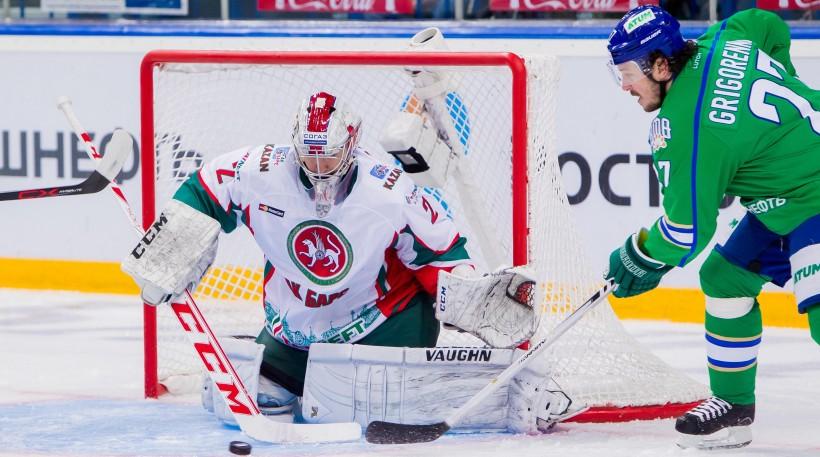 KHL: Grigorenko Double Downs Ak Bars