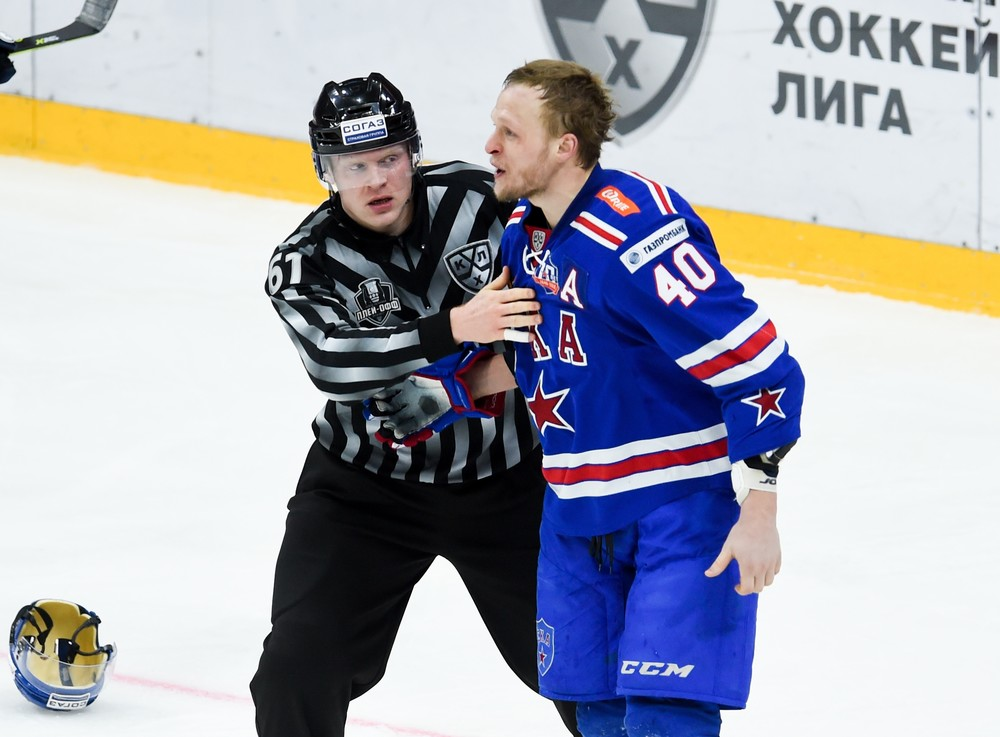 KHL: Hersley Double Downs Former Club. Playoff, March 24, 2017