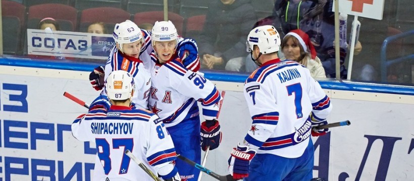 KHL: SKA Goal Rush Continues. December 24 Round-up
