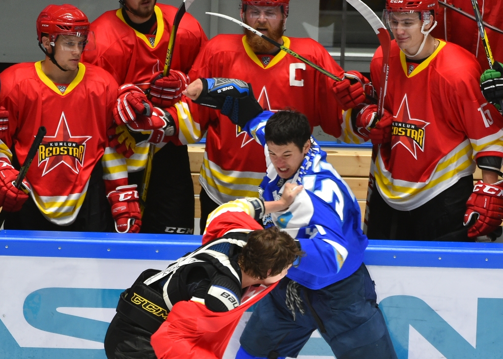6a8ef701d The game may have been a warm-up, but there was certainly no lack of  competitive spirit: the teams traded 196 penalty minutes, most of them  coming after a ...